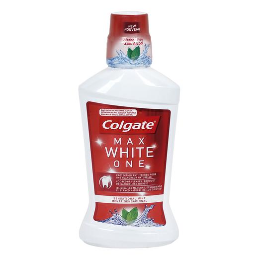 COLGATE enjuague bucal blanqueante botella 500ml