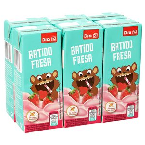 DIA batido fresa pack 6 unidades 200 ml