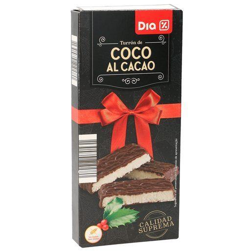 DIA turrón de coco con chocolate estuche 200 gr