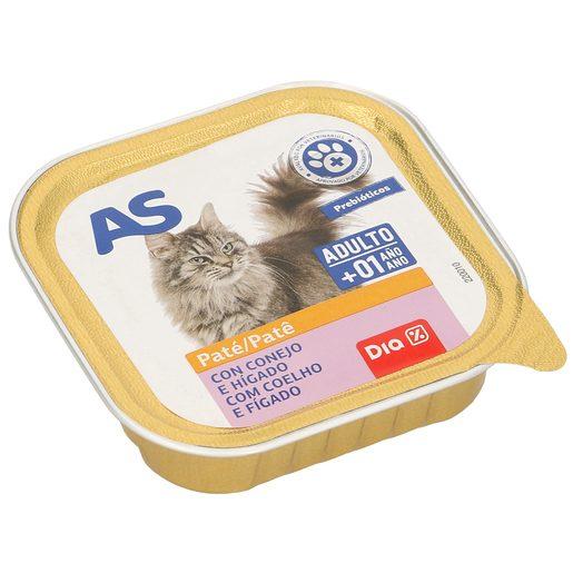 AS paté para gatos con conejo e hígado tarro 100 gr