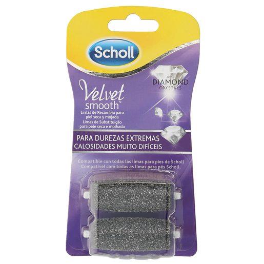 SCHOLL Velvet smooth recambio lima durezas extremas 2 uds