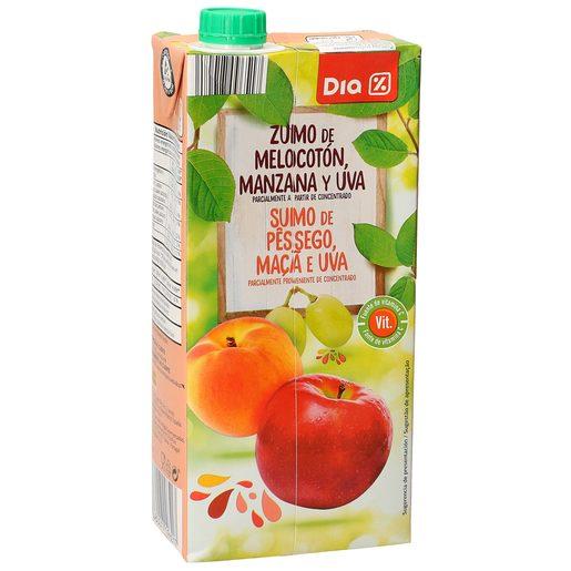 DIA zumo melocotón manzana uva envase 1 lt