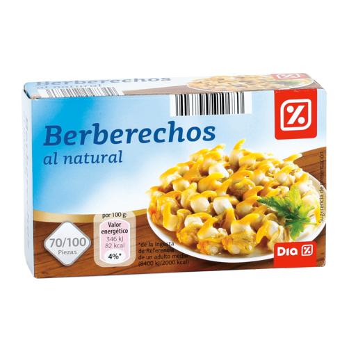 DIA berberechos al natural 70/100 piezas lata 63 gr