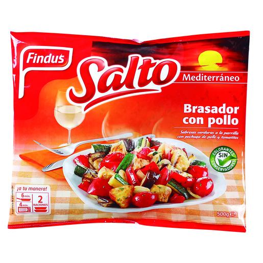 FINDUS Salto mediterráneo brasador con pollo bolsa 500 gr