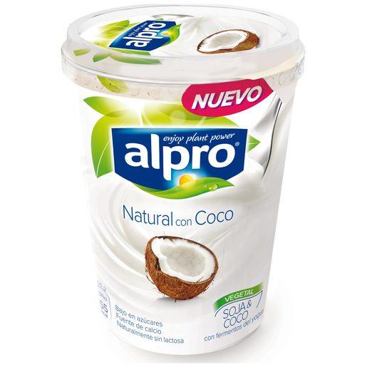ALPRO yogur natural de soja con coco vaso 500 gr