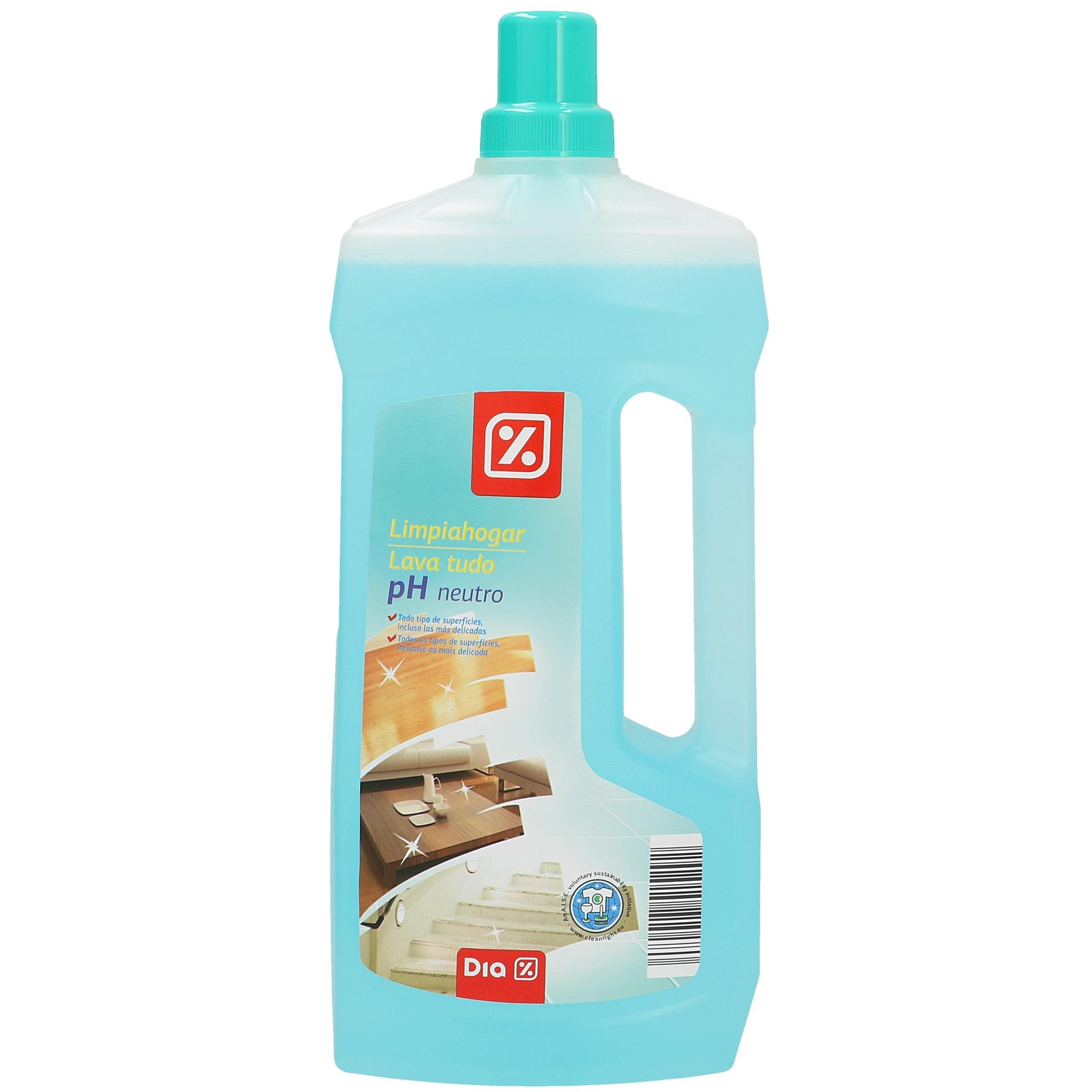 Dia limpiador ph neutro botella 1 5 lt limpiador for Jabon neutro para limpiar