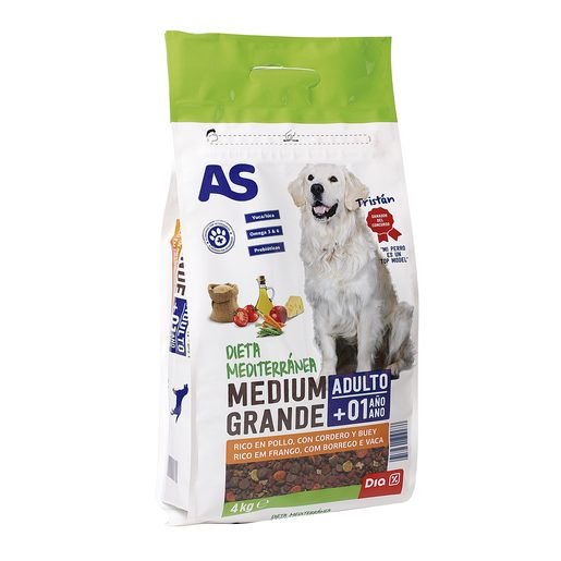 AS alimento para perros menú top fit bolsa 4 Kg