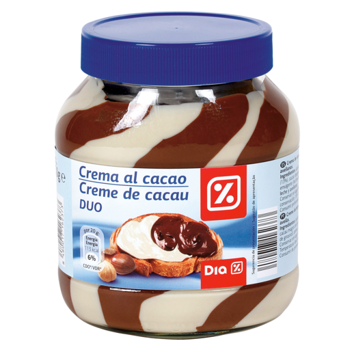 DIA crema de cacao 2 sabores bote 750 grs