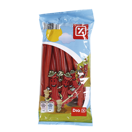 DIA torcidas regaliz rojo bolsa 225 gr