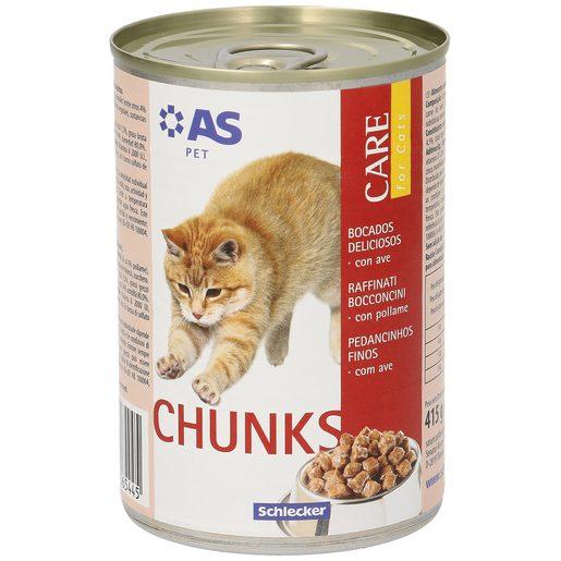 AS alimento para gatos bocados deliciosos con ave lata 415 gr