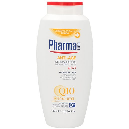 PHARMALINE gel de ducha antiedad Q10 bote 750 ml