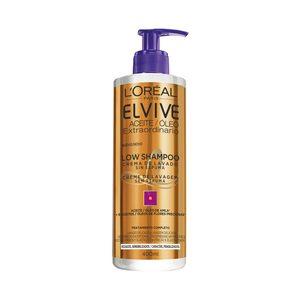 ELVIVE crema de lavado sin espuma cabellos rizados dosificador 400 ml