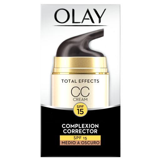 OLAY Total effects 7 en 1 crema CC tono medio a oscuro antiedad caja 50 ml
