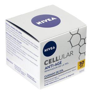 NIVEA Cellular crema facial de día antiarrugas spf 30 tarro 50  ml