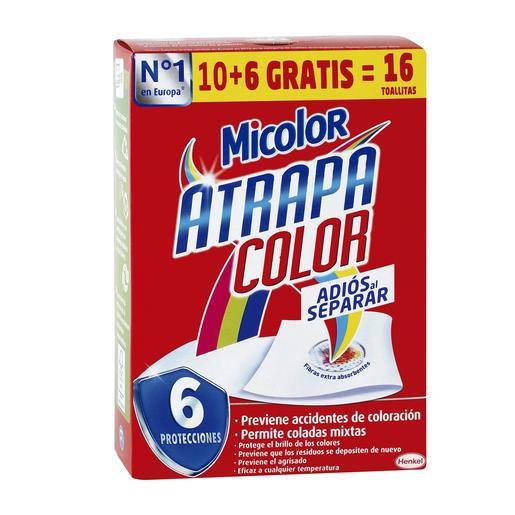 MICOLOR toallitas atrapa color caja 16 uds