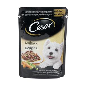 CESAR alimento para perros pollo y verduras guisadas en salsa 100 gr