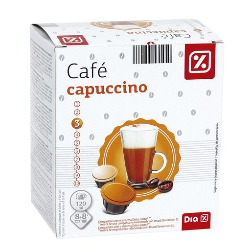 DIA café capuccino 16 cápsulas caja 160 gr