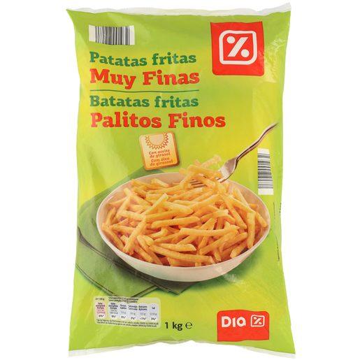 DIA patatas fritas congeladas muy finas bolsa 1 kg