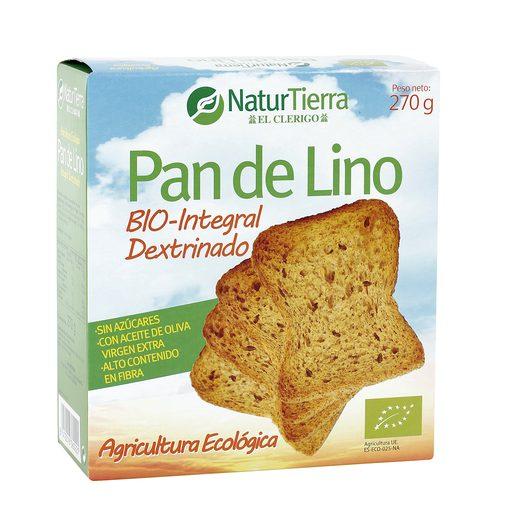 NATUR TIERRA pan de lino caja 270 gr