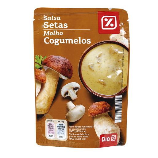 DIA salsa de setas bolsa 140 gr