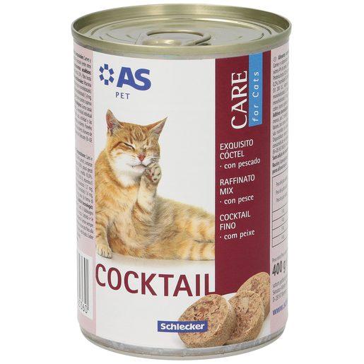 AS alimento para gatos cocktail con pescado lata 400 gr
