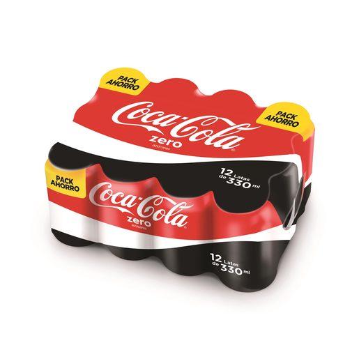COCA COLA zero pack 12 latas 33 cl