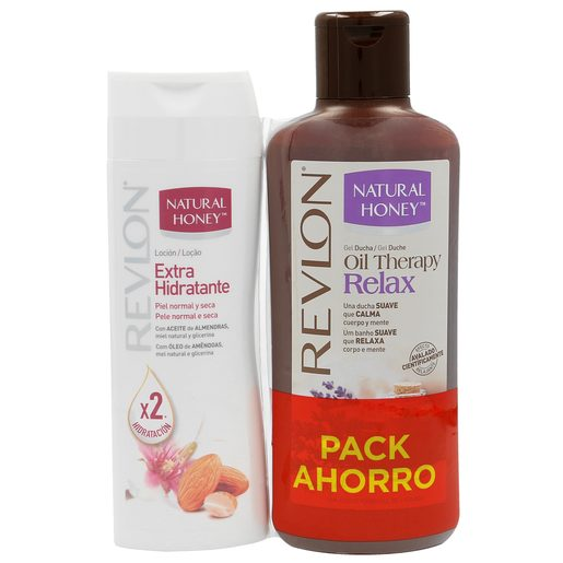 NATURAL HONEY pack gel de ducha relax 650 ml + loción corporal 400 ml