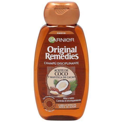 ORIGINAL REMEDIES champú disciplinante con aceite de coco y cacao bote 250 ml