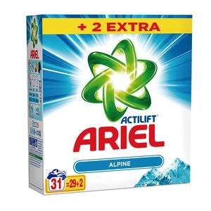 ARIEL Actilift detergente máquina en polvo maleta 31 cacitos