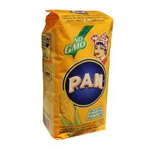 PAN harina 100% de maíz amarillo paquete 1 Kg