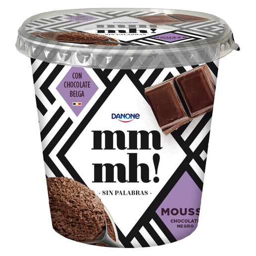 DANONE MMMH! mousse de chocolate negro vaso 100 gr