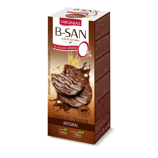 VIRGINIAS B-San galleta con chocolate y leche sin azúcar paquete 120 grs