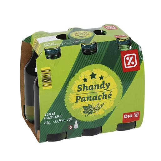 DIA Shandy cerveza sabor limón pack 6 botellas 25 cl