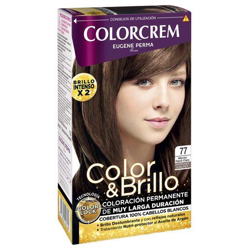 COLORCREM tinte Marrón Glace Claro Nº 77 caja 1 ud