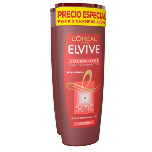 ELVIVE champú protector del color cabello teñido bote 2 x 250 ml