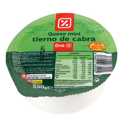 DIA queso tierno de cabra mini 550 g