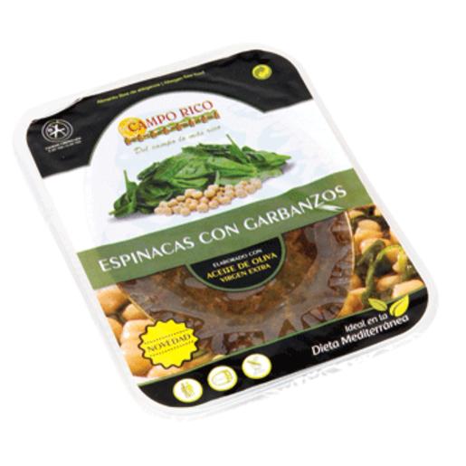 Espinacas con garbanzos tarrina 360 gr