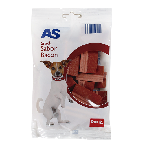 AS snack para perros sabor bacon bolsa 120 gr
