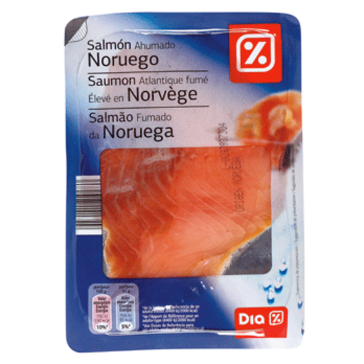 DIA salmón ahumado noruego envase 100 gr