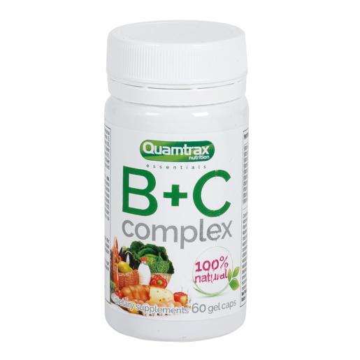 QUAMTRAX Nutrition vitaminas B + C complex bote 60 cápsulas