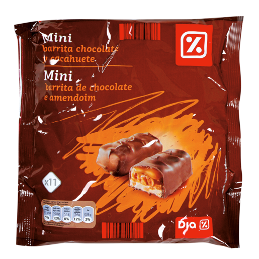 DIA mini barrita chocolate cacahuete bolsa 250 gr