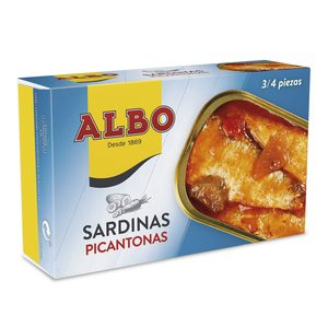 ALBO sardinas picantonas lata 85 gr