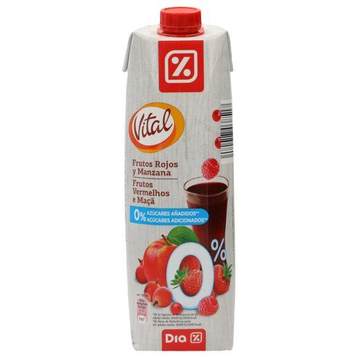 DIA VITAL néctar light frutos rojos y manzana envase 1 lt