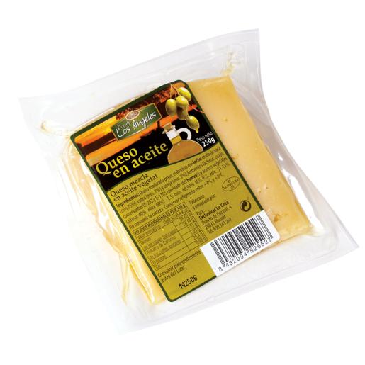 FUENTE LOS ANGELES queso mezcla en aceite de oliva cuña 250 g r