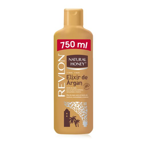 NATURAL HONEY gel de baño argán botella 750 ml