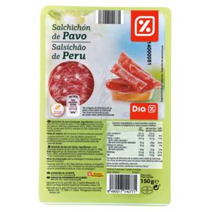 DIA salchichón de pavo en lonchas sobre 150 gr