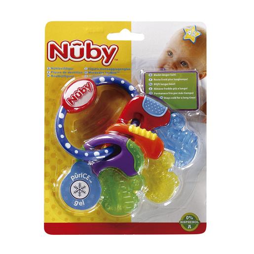 NUBY llaves blandas y duras mordedor icybite más tiempo frío +4 meses 1 ud