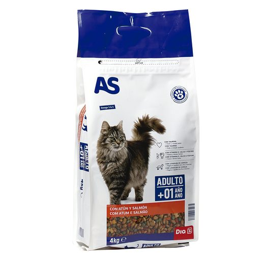 AS alimento para gatos multicomponente pescado bolsa 4 kg