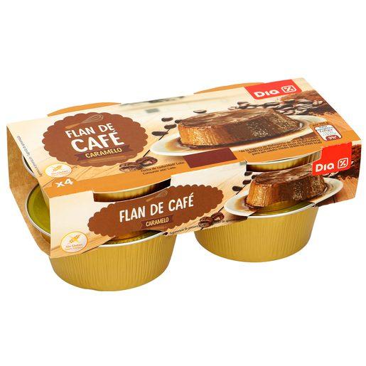 DIA flan de café pack 4 unidades 100 gr