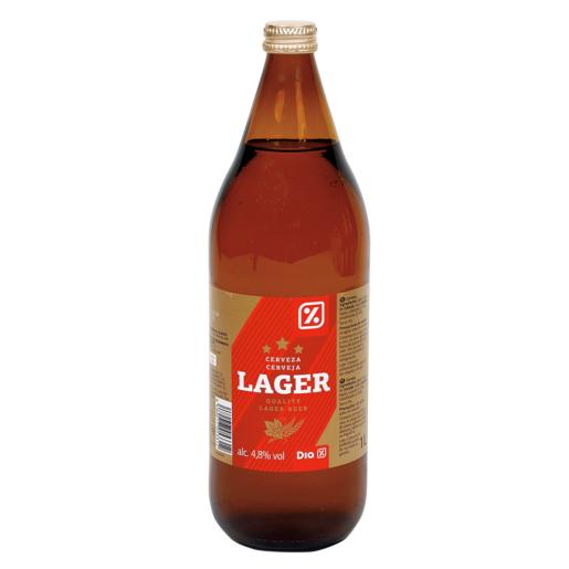 DIA cerveza rubia nacional botella 1 lt